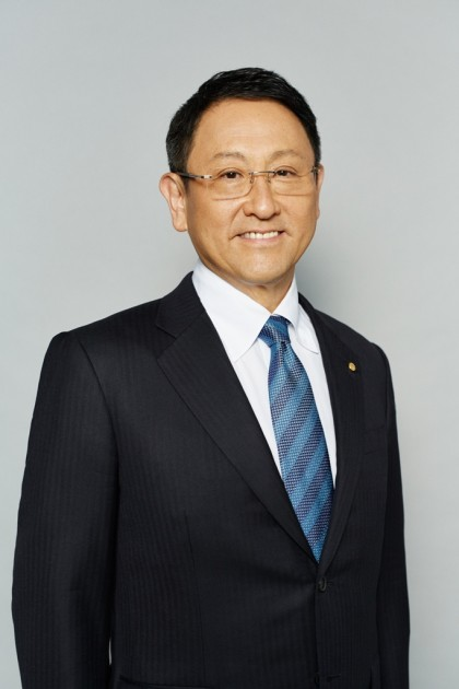 Akio Toyoda serves as president of Toyota