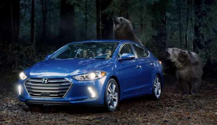 Bears Chase 2017 Hyundai Elantra in 2016 Super Bowl 50 ad
