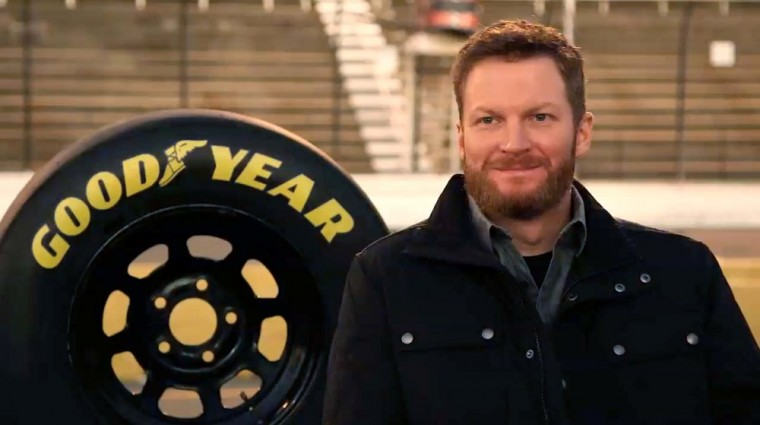 Racecar driverDale Earnhardt. Jr.'s new Goodyear commercial shows how he went from go-karts to NASCAR