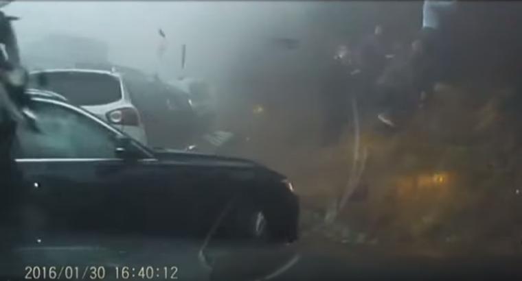 Fog 70 Car Pileup