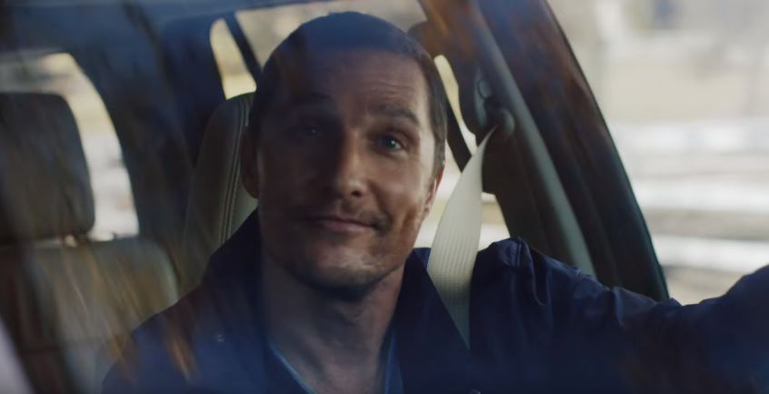 Matthew Mcconaughey Keeps It Goofy With Dogs In Lincoln Navigator