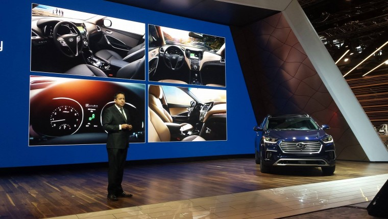 Hyundai Highlights At Chicago Auto Show Include Sante Fe Debut - Hyundai car show