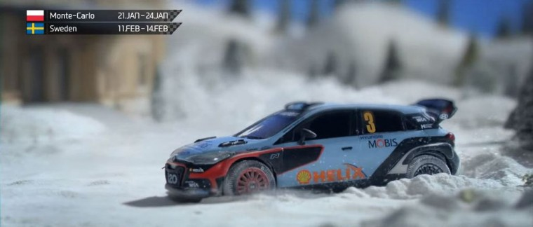 Hyundai i20 World Rally Championship Racer stop motion animated promo