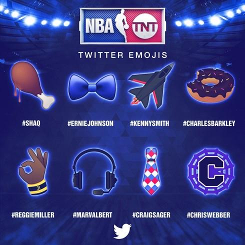 Inside the NBA Team Twitter Emojis