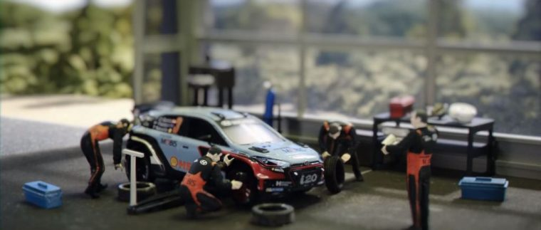 Model Hyundai i20 in World Rally Championship video