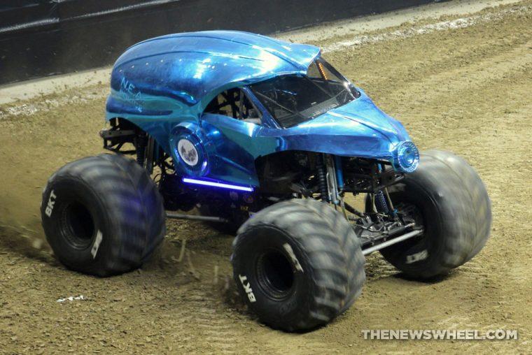 Monster Jam Show Dayton blue NEA police truck