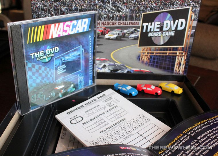 NASCAR DVD Board Game Review components