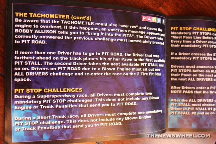 NASCAR DVD Board Game Review instructions