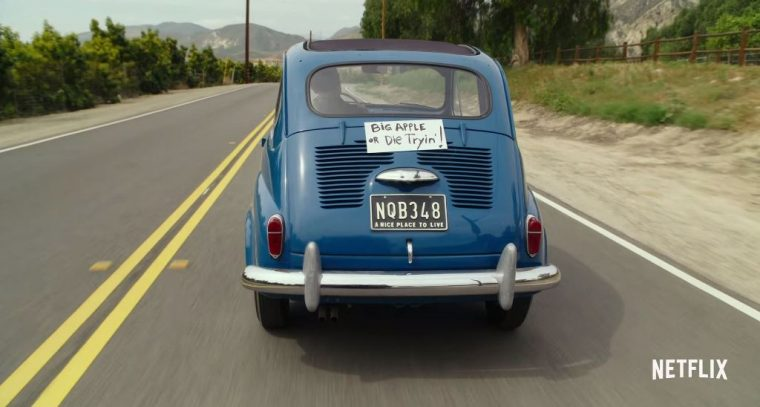 Pee-wee's Big Holiday Netflix Movie  starring Paul Reubens Fiat 600 car
