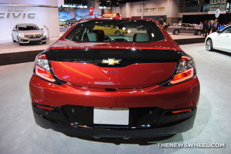Orange 2016 Chevy Volt at the 2016 Chicago Auto Show