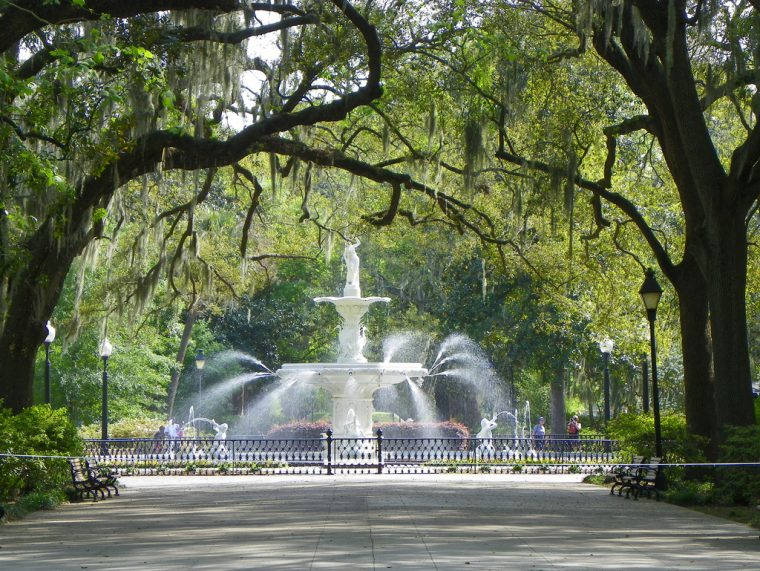 Savannah Georgia Fountain