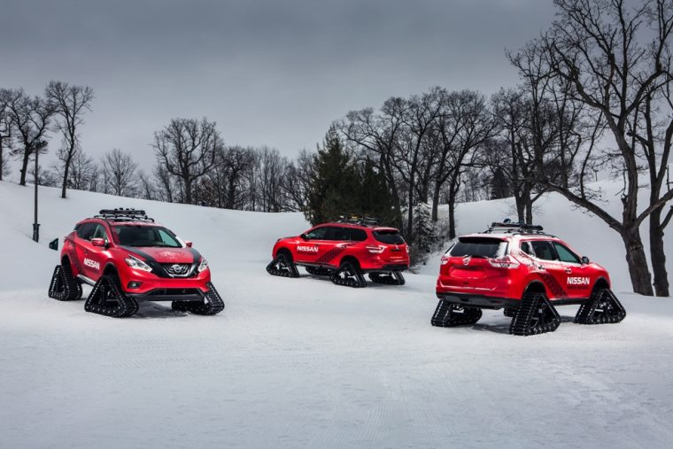 Nissan Winter Warrior Concepts - Murano, Rogue, and Pathfinder