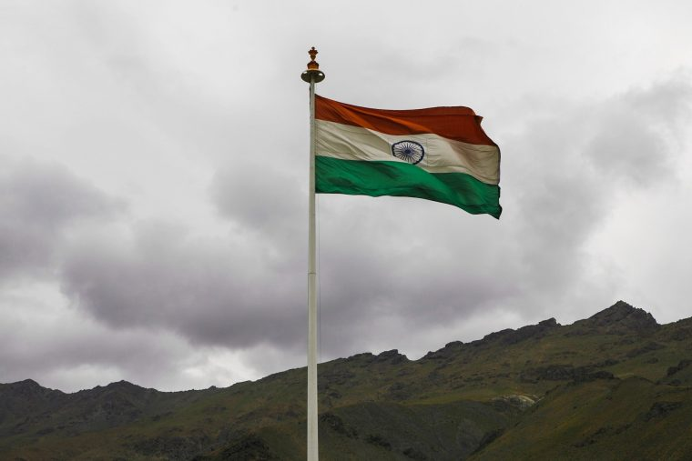 India tricolor flag