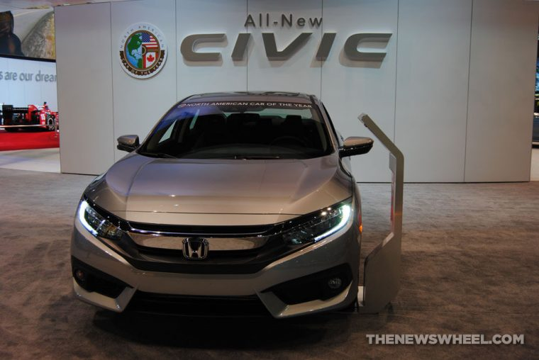 2016 Honda Civic on display at the Chicago Auto Show
