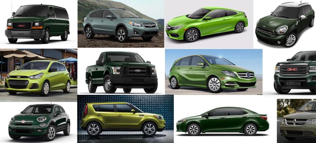 2016 green vehicle models cars trucks SUVs