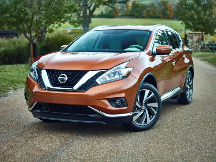 2016 Nissan Murano grille closeup
