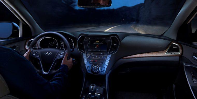 2017 Hyundai Santa Fe Model Overview night driving