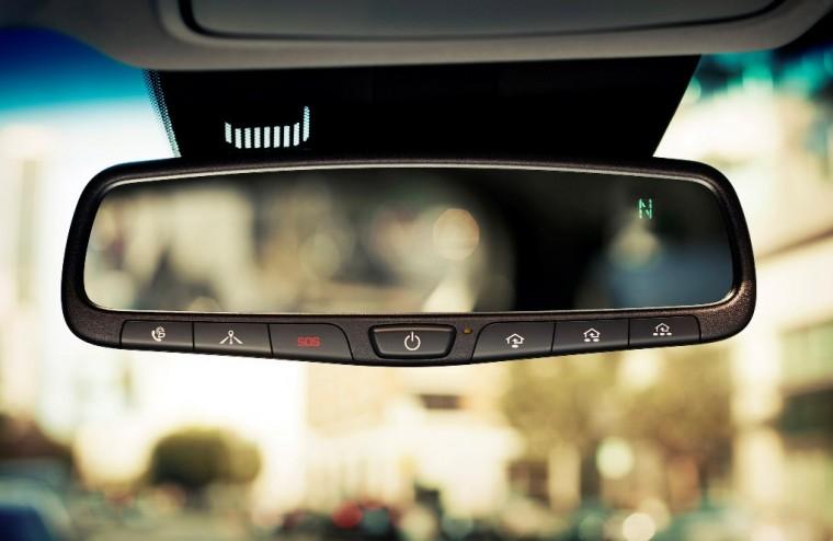 2017 Hyundai Santa Fe Model Overview rear view mirror