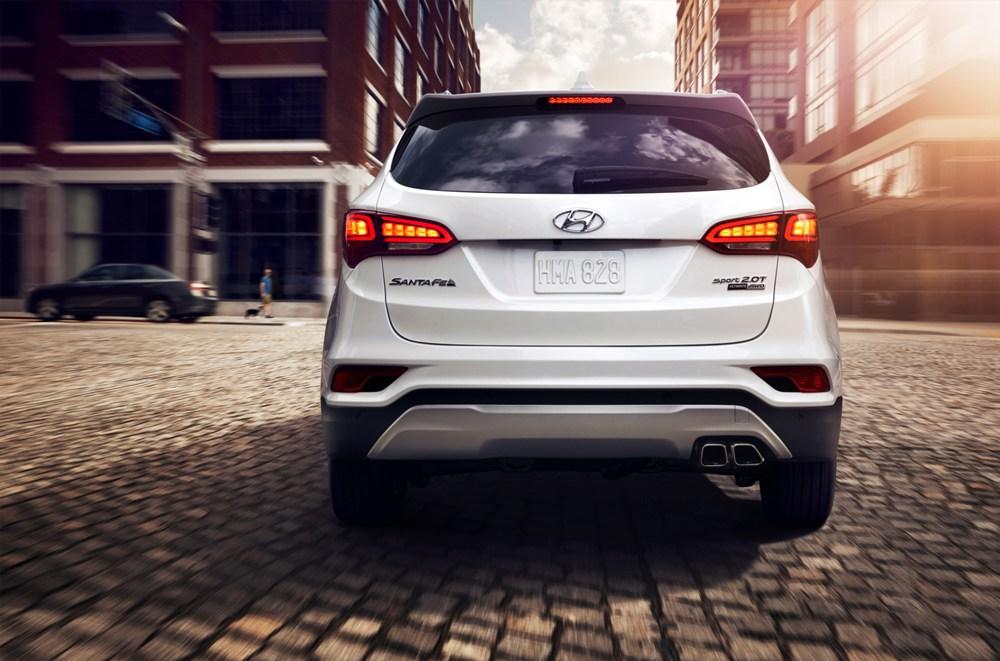 2017 Hyundai Santa Fe Sport Rear Fascia The News Wheel