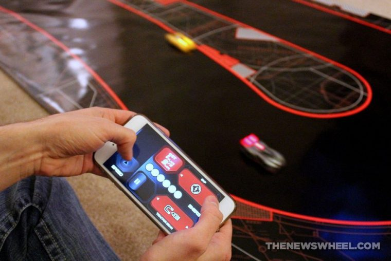 Anki DRIVE remote controlled robotic racing cars review phone app controls