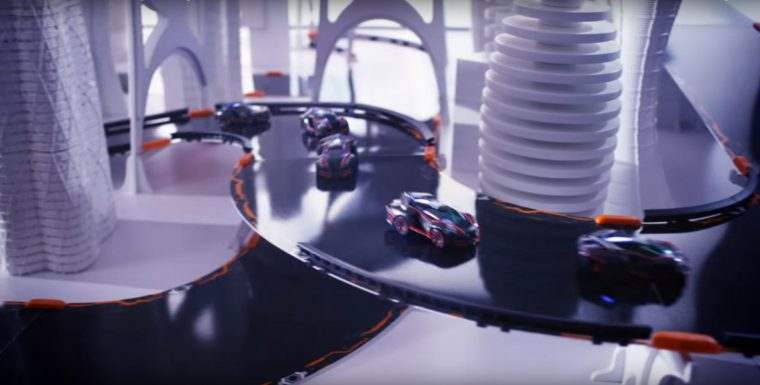 Anki Overdrive  promotional video racing robot cars