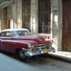 Cuban Classic Car Red