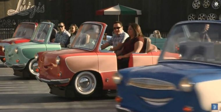 Disney California New Cars Ride Luigi's Rollickin Roadsters