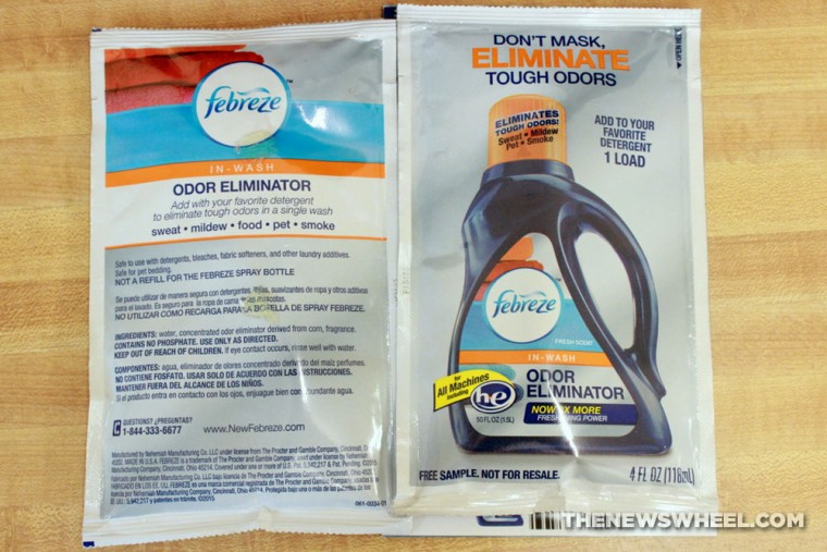 Febreze In-Wash Odor Eliminator Laundry Additive Review instructions