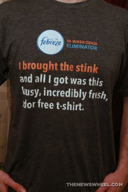 Febreze In-Wash Odor Eliminator Laundry Additive Review shirt
