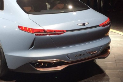 Genesis New York Concept Debut hybrid sports sedan bumper