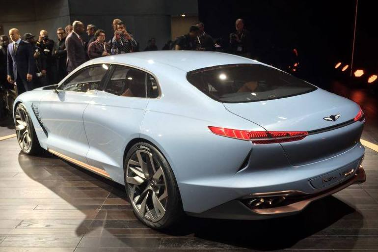 Photos Genesis Hybrid Sedan Concept Struts Its Stuff In New York