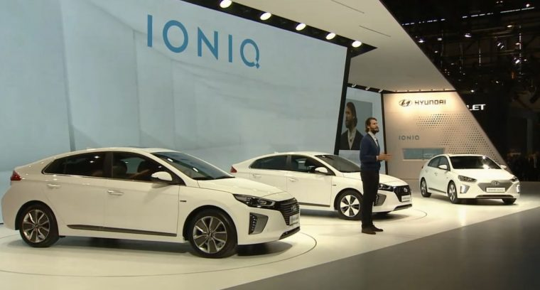 Hyundai Ioniq debut at Geneva Motor Show reveal - Toyota Prius Fighter