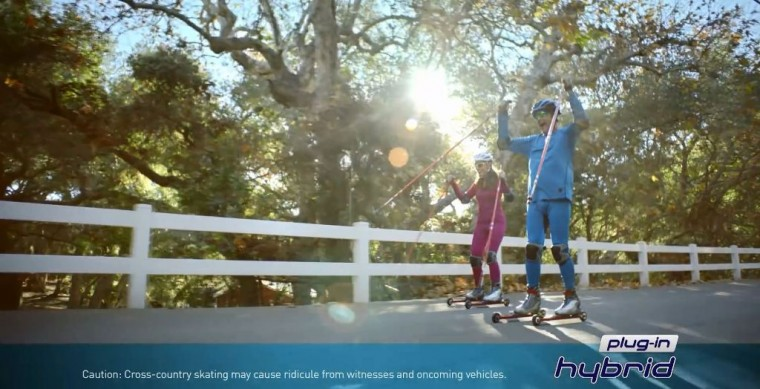 Hyundai Sonata Plug-In Hybrid commercial for range anxiety spoofs pharmaceutrical ads activity