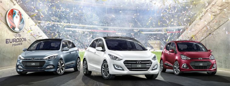 Hyundai i10 i20 i30 GO! special edition car models soccer football