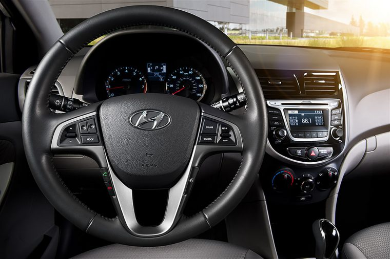 Hyundai interior steering wheel