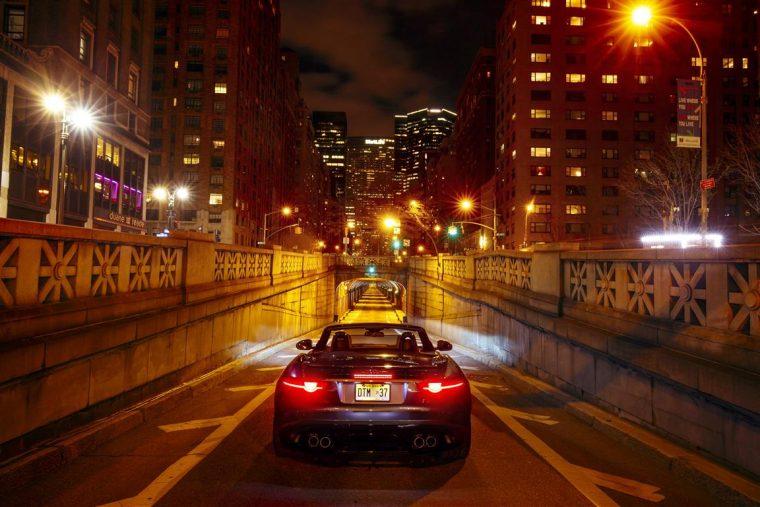 Jaguar F-Type SVR NYIAS Park Avenue Tunnel