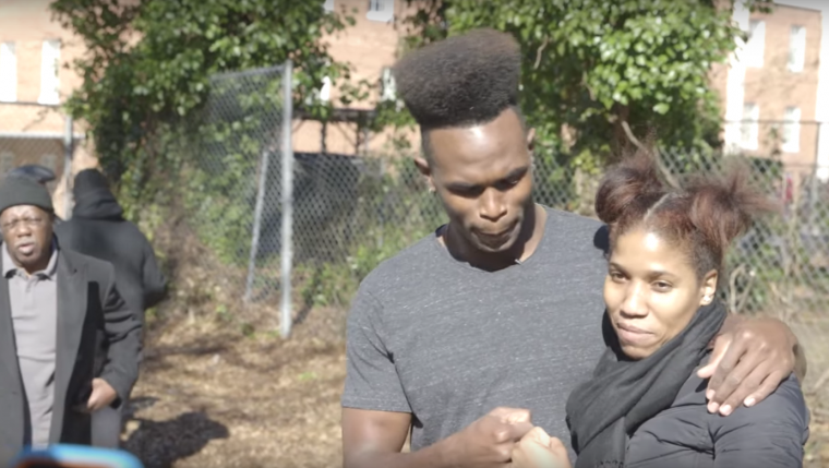 Julio Jones feeds the homeless for Chevrolet's #DayItForward campaign