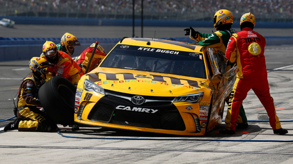 Kyle Busch Tire Troubles