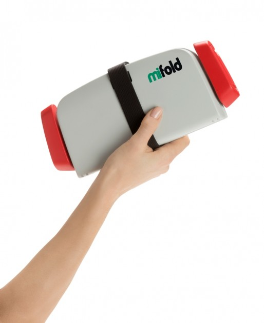 Mifold grab-and-go booster seat portable device