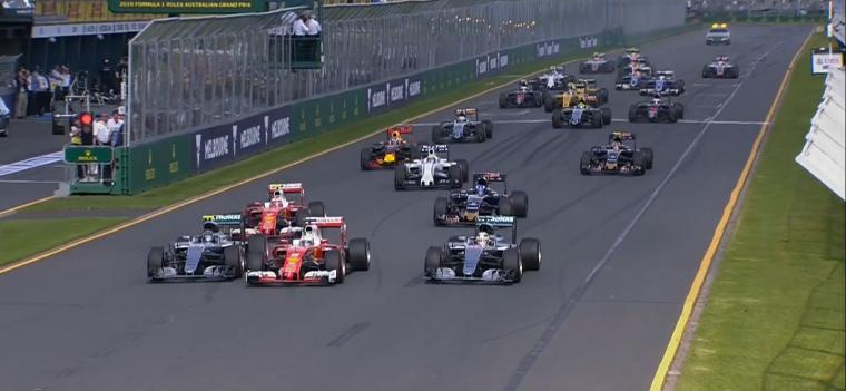 2016 Australian Grand Prix race start