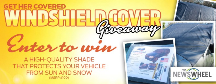 The News Wheel Windshield Cover Giveaway banner