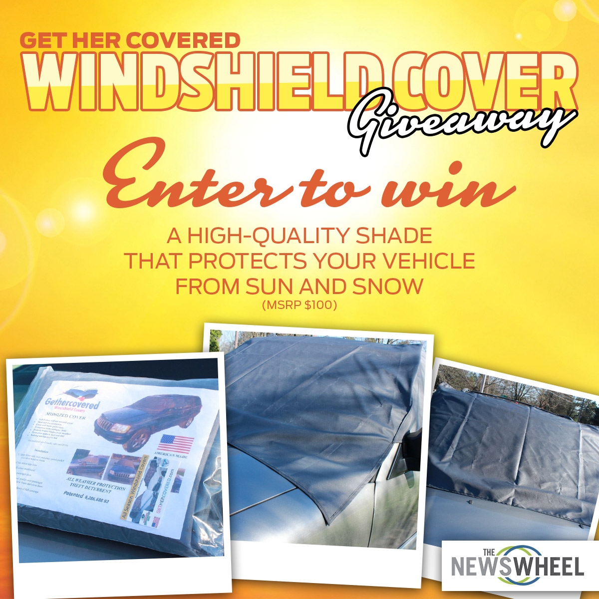 The News Wheel Windshield Cover Giveaway post