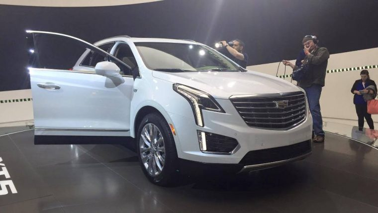 Cadillac showed off the '17 XT5 crossover at the New York Auto Show before it's released to dealerships next month