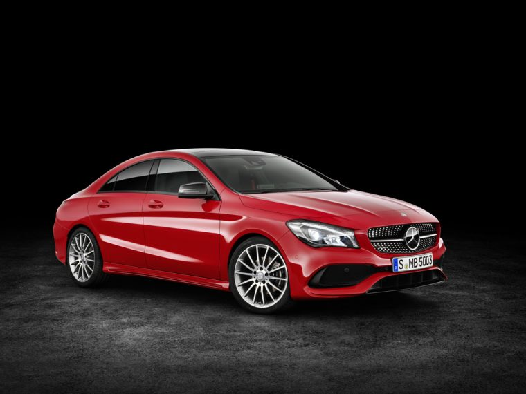 The 2017 Mercedes-Benz CLA will offer the same engine choices as the 2016 version, but the new model will feature a few exterior design changes