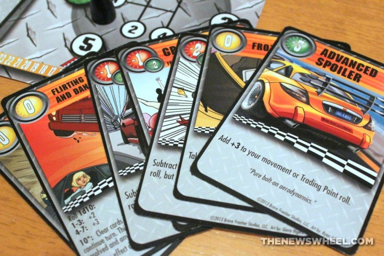 Thrash Car Racing Board Game Review Solar Flare cards