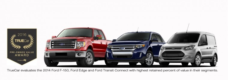 Ford Wins Three TrueCar Pre-Owned Value Awards