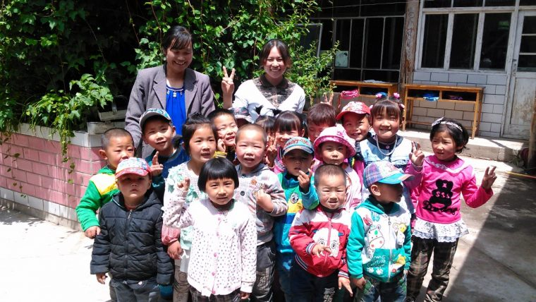 China Development Research Foundation volunteer teachers at Village Kindergarten