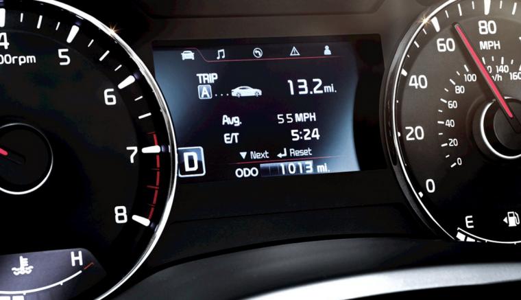2016 Kia Forte Koup Driver Information Display