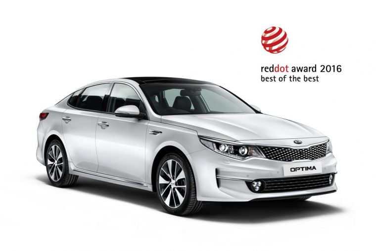 2016 Kia Optima Red Dot Award Winner