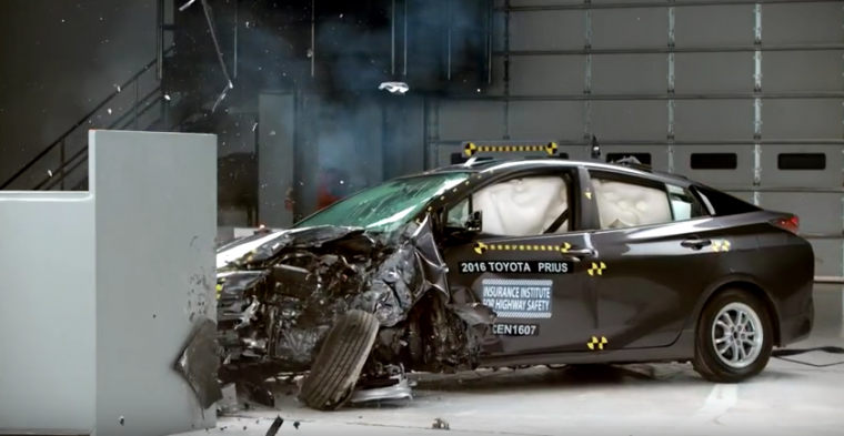 The 2016 Toyota Prius earned a Top Safety Pick+ designation from the IIHS